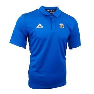 San Jose State Spartans NCAA Adidas Men's Blue Team Iconic Climalite Polo Shirt