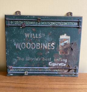 Vintage Antique Wills's Woodbines Snooker Scoreboard Cigarette Advertising Pub