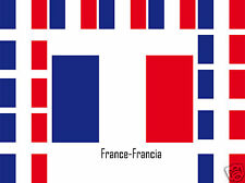 Assortiment lot de 25 autocollants Vinyle stickers drapeau France-Francia