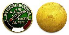 Medaglia Placca Con Smalti Ass. Naz. Alpini - Sez. Di Torino Bronzo