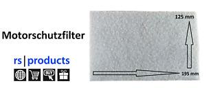 RS-Products Universal Motorschutzfilter für Staubsauger, 1 Stück, zuschneidbar