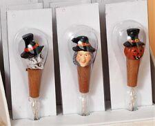 Halloween LED Lit Bottle Stoppers & Light String Set of 3 Skull Pumpkin Witch