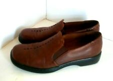 WOMENS AUDITIONS SOFT CUSHION COMFORT BROWN LEATHER SHOES SIZE 9.5 N