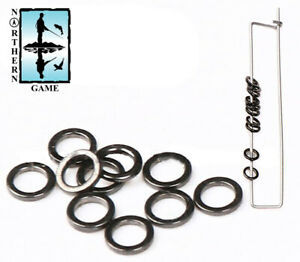 2mm Stainless Steel Seamless Rings for Leaders, Casts and Rigs 10 rings per pack
