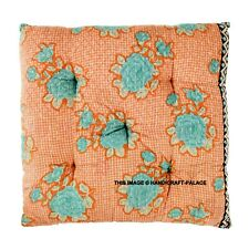 Vintage Kantha Quilted Seat Pad Dining Room Garden Kitchen Chair Cushions Tie On