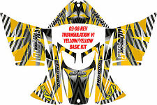 SKIDOO SNOWMOBILE WRAP REV,XP, XR,XS,XM MXZ  99-16 TRIANGULATION V1  STICKER