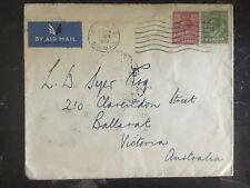 1935 London England to Victoria Australia Airmail Cover