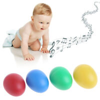 Egg Kids Cute Rustling Baby Maracas Shakers Plastic Musical Percussion x2 a2s