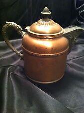 Vintage Copper Brass Style Teapot Kettle Pitcher Ornate Lid Handle & Spout