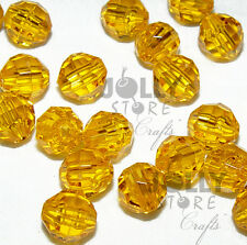 6mm Sun Gold Faceted Acrylic Beads 500 piece bag