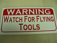 Watch for FLYING TOOLS Metal Sign Motorcycle Hot Rod Car Truck Shop Garage Bar
