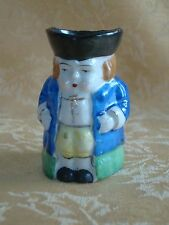Vintage Occupied Japan Character Toby Mug ~ Hand Painted Green & Blue