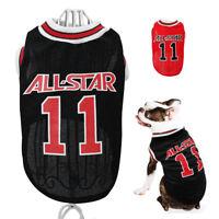Dog T Shirt Small Summer Sport Shirt Basketball Pet Puppy Cat Clothes Mesh Vest