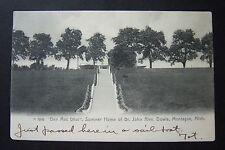 BEN MAC DHUI Summer Home of JOHN ALEXANDER DOWIE, Montague, MI postcard, 1906