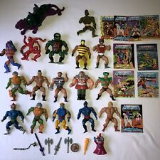 Vtg Masters Of The Universe He-man MOTU Action Figure Lot Weapons Soft Heads