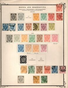 Bosnia & Herzegovina, STAMP COLLECTION 1879 TO 1918