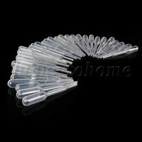 0.2ML Disposable Pipettes Plastic Pipets Dropper 60mm Length
