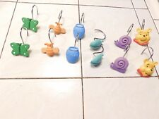 Winnie the pooh shower curtain hooks Set of 12