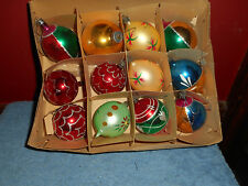 MERCURY GLASS ORNAMENTS 12 Santa Land Christmas Tree Decorations Made in POLAND
