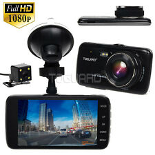 "Toguard 4"" IPS Full HD 1080p Car Dash Cam Front and Rear  Camera Video Recorder"