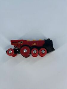 Brio Battery-Operated #529 Mighty Red Action Engine Locomotive Train Thomas