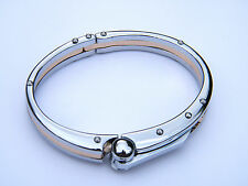 HANDCUFF  STAINLESS STEEL 316L WRISTBAND MEN'S JEWELLERY BRACELET SILVER/GOLD