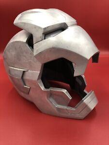Ironman Real Aluminum Wearable Helmet Halloween Costume Light Up Eyes Avengers