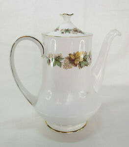 Vintage Royal Standard Fine Bone China Tea Pot, Flower Pattern