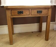 SOLID OAK DESK WITH DRAWERS 85cm x 50cm x 75cm, FREE DELIVERY