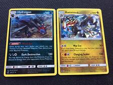 Pokemon Card CRIMSON INVASION HYDREIGON 62/111 + KOMMO- O 77/111 SHATTERED HOLOS