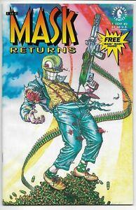 The Mask Returns #1 1992 Dark Horse Comics Arcudi Mahnke NM (Includes Mask)