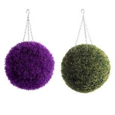 1/2x Lavender Balls Topiary Sphere Flower Fake Plant Chain Hanging Festival Door
