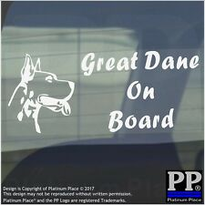 Great Dane Dog On Board Sticker-Car,Van,Truck-Self Adhesive Pet Window Sign