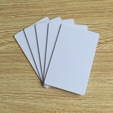 New 100 Pcs/Lot Blank PVC Plastic Photo ID White Credit Card 30Mil CR80