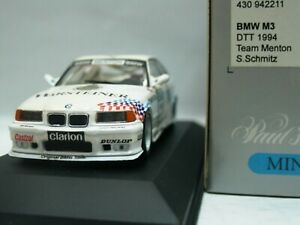 WOW EXTREMELY RARE BMW M3 E36 325i #11 Sb Schmitz DTT 1994 1:43 Minichamps-Spark