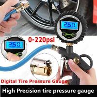 Digital Tire Inflator with Pressure Gauge LCD Backlit Screen Air Car Chuck Comp