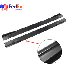 86 INCH Car Side Skirts Extension Winglet Panel Lip Body Kit Glossy Black US 6PC