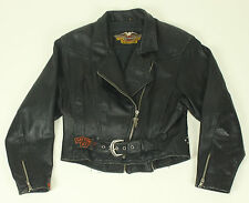 Harley Davidson Leather Riding Jacket Small DAYTONA 97 S Women's Black Studded