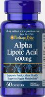 Puritan's Pride Alpha Lipoic Acid 600 mg - 60 Capsules