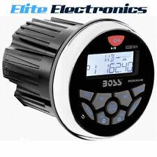BOSS AUDIO MGR350B BLUETOOTH MECHLESS MARINE USB MP3 WMA PLAYER RECEIVER