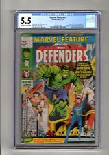 MARVEL FEATURE 1 Origin & 1st App The Defenders Marvel 1971 CGC 5.5 Graded
