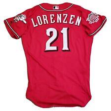 Michael Lorenzen Game Used Game Worn Jersey Cincinnati Reds Los Rojos