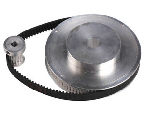 Timing Pulley Belt Set Kit Reducer Ratio 6:1 CNC Engraving Machine Accessory