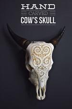 Bali COW skull / BULL skull / hand carved SKULL / wall mounted skull