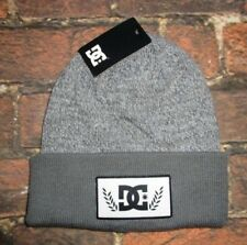 MENS DC SHOES HAT GRAY BEANIE CAP ONE SIZE
