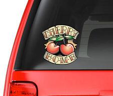 Cherry Bomb Tattoo Art Design Full Color - Vinyl Decal for Car, Macbook, etc.