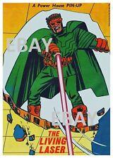 POWER PIN-UP Print - LIVING LASER Avengers Vintage Art Marvel UK Distribution