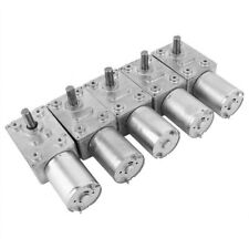12 V alto esfuerzo de torsión Gusano Eléctrico Caja de cambios de la turbina Engranaje de reducción DC motor de engranajes