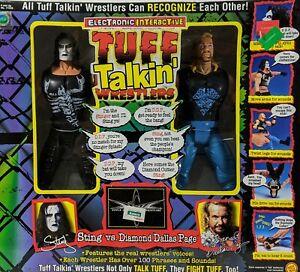 ToyBiz Sting vs Diamond Dallas Page Tuff Talking Wrestlers WCW 1999 NIB Toy