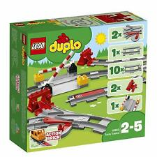 LEGO 10882 Duplo Town Train Extension Tracks Toddlers Preschool Building Toy Set